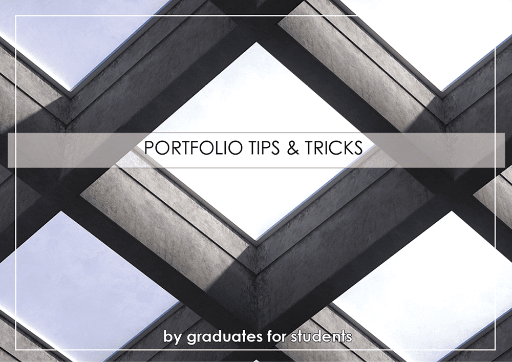 Portfolio Advice: Tips and Rules of Thumb for the Architecture
