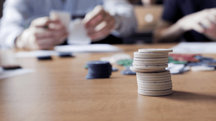 game playing with poker chips
