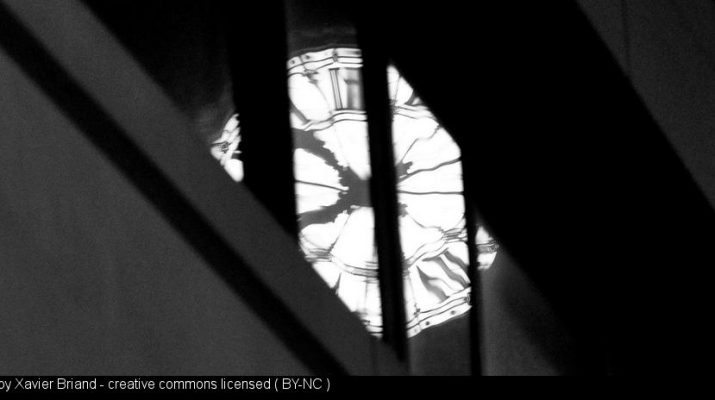 a distorted clock face